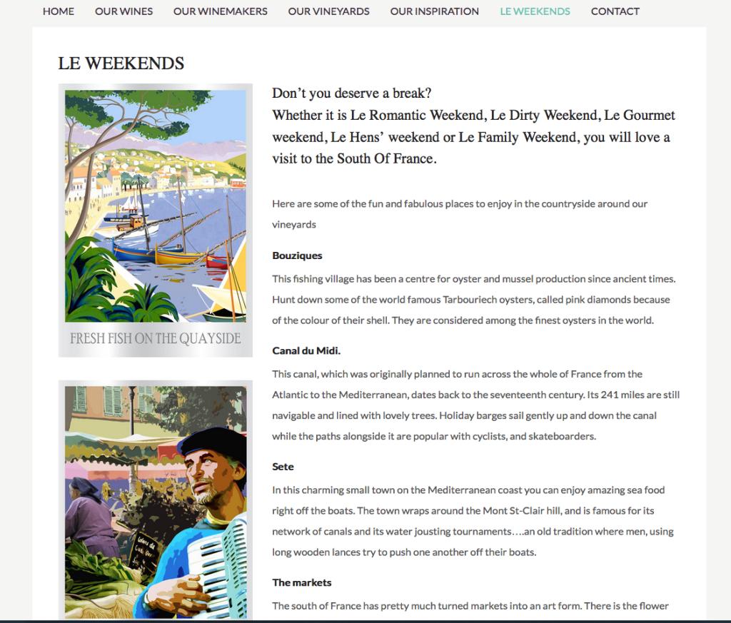 Le Weekend website